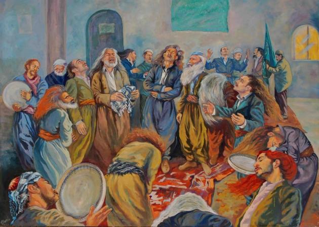 Bayad Abdullah Kurdish painter  Kurdistan Sulaymaniyah  بهیادعهبدوالله KURDISTAN ART@rebazart1
